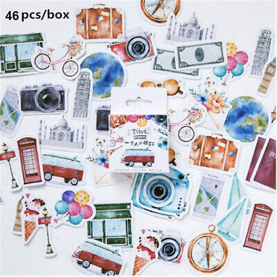46pcs Delicious Food Paper Sealing Stickers Scrapbooking DIY Diary Album LabelHG