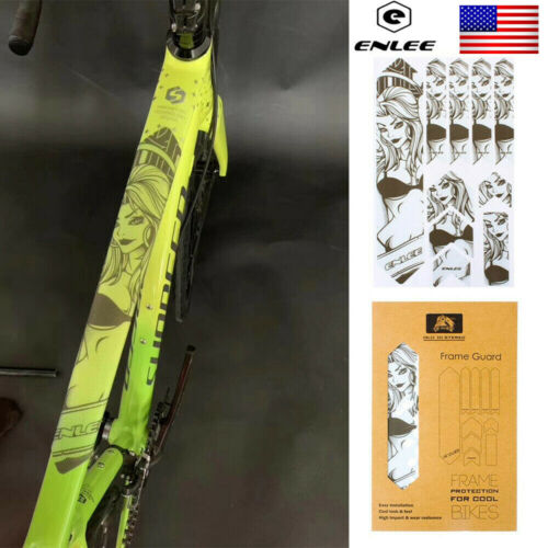 Frame Stickers PVC Repeat Paste 3D MTB//Road Bicycle Protect Protector Stickers