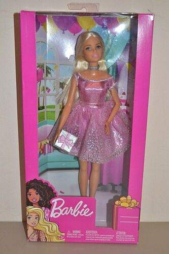 2018 playline Happy Birthday BIONDA barbie-NUOVO