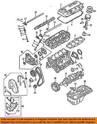 Mitsubishi Oem 89 94 Montero Engine Crankshaft Crank Seal Md168055 Ebay