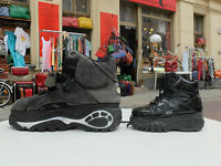 BUFFALO Boots Plateau Lack Schuhe children 30 Stiefel Schwarz 90er True VINTAGE