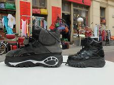 BUFFALO Boots Plateau Lack Schuhe Stiefel children 30 Schwarz 90er True VINTAGE