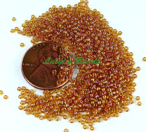 15//0 Round TOHO Japan Glass Seed Beads #162C Trans-Rainbow Topaz 10 grams
