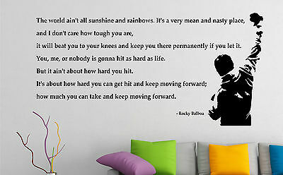 Rocky Balboa wall art sticker quote