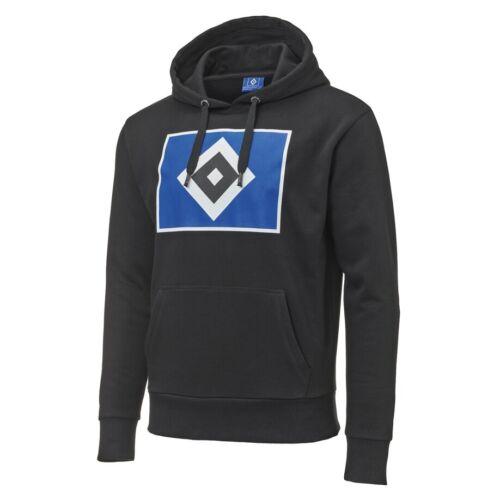"""4xl Hamburger SV HSV Hoody con cappuccio Pullover /""""ROMBO/"""" NERO TAGLIA M"""