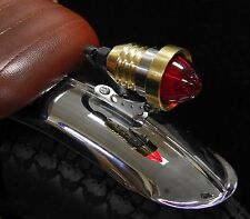 BRAT BULLET SOLID BRASS LED TAIL LIGHT CAFE RACER STREET FIGHTER BOBBER CHOPPER