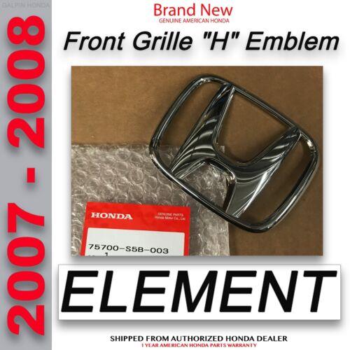 75700-S5B-003ELEMENT Genuine OEM Honda Element Front Grille H Emblem