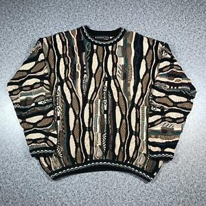 Vintage-90s-BARACUTA-BY-TUNDRA-Cosby-Style-Mens-Sweater-XL-3D-Knit-Jumper
