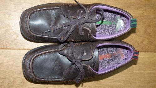 5 38 Low en Up cuir Brown Kickers Chaussures Uk marron PiOZwkXTu