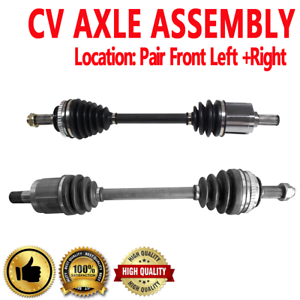 Pair Front CV Axle Drive Shaft for ACURA CL 97-99 V6 3.0L 2997cc
