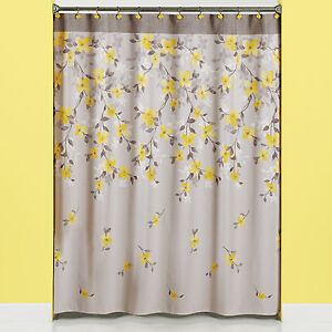 Image Is Loading Spring Floral Bath Ensemble Bathroom Shower Curtain