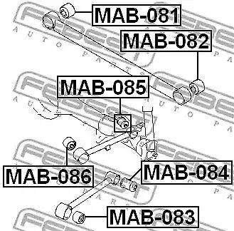 Reat Track Control Arm Bush fits Mitsubishi Pajero TR4 Shogun Pinin for