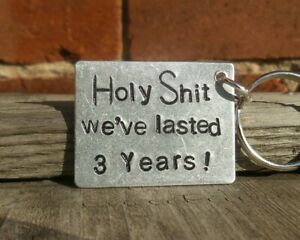 We Ve Lasted 3 Years Keyring 3rd Anniversary Gifts Husband Wife Funny Boyfriend Ebay
