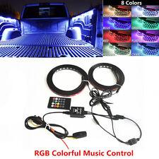Pair Truck Bed RGB Light Strip LED Neon Lighting Kit For Ford Dodge GMC Truck