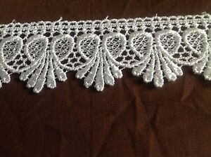 1+3//8 inch wide white color   selling by the yard Venise Lace
