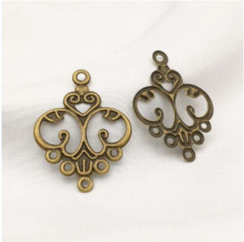 30pcs Charm Metal Filigree Flower Connector Chandelier Earring Finding Craft DIY