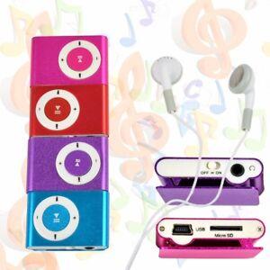 Mini Practical USB Clip MP3 Player 16GB Micro SD Card Music Media Portable