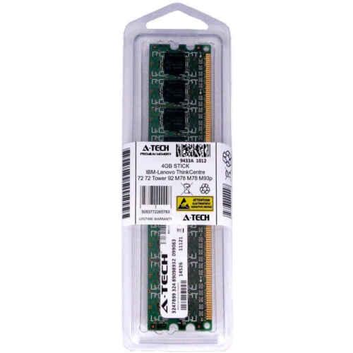 4GB DIMM IBM-Lenovo ThinkCentre 72 72 Tower 92 M78 M78 Tower M93p Ram Memory