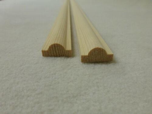 2.06 1Stk 90cm Profilleiste Kiefer 10x19mm Zierleiste Holzleisten