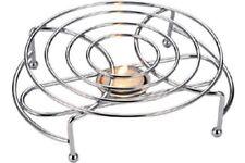 2x Solo Plato Calentador Cromo Placa de calor de alambre de alimentos ROZADURAS Curry Quemador +6 Vela