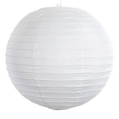 "Snow White Paper Party Lanterns - 8"", 10"", 12"", 14"", 16"", 18"", 20"" and 24"" sizes"