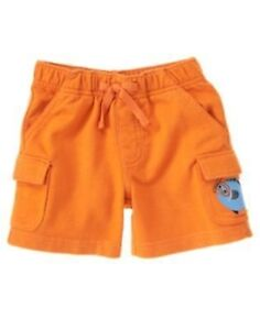 GYMBOREE I DIG DOGS BROWN CARGO KNIT SHORTS 0 3 6 12 18 24 NWT