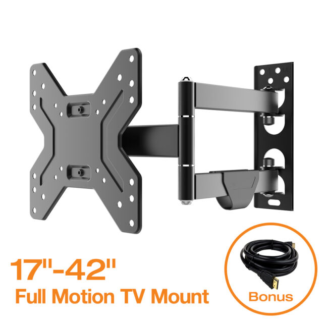 Full Motion Tilt Swivel Lcd Led Tv Monitor Wall Mount Bracket 17 32 37 39 40 42