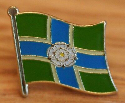 YORKSHIRE - NORTH RIDING England County Flag Enamel Pin Badge UK Great Britain