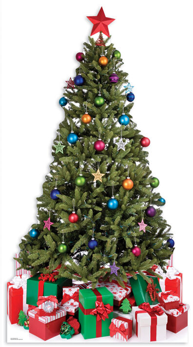 Weihnachtsbaum (Weihnachten) Lebensechte Größe Pappfigur   Moderne und und und elegante Mode    Lebendige Form  27f19d