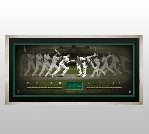 KEITH MILLER HAND SIGNED AND FRAMED LIMITED EDITION TIME LAPSE PRINT BRADMAN