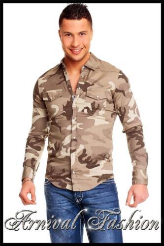 MEN LONG SLEEVE SHIRT slim fit WEAR CLOTHING casual shirt TOPS size S M cotton