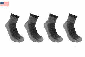 4-Pairs-People-Socks-71-Premium-Merino-Wool-Quarter-Ankle-Hiking-Outdoor-USA