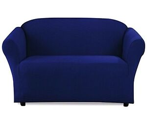 Details about STRETCH FORM FIT - 1 Piece Sofa Slipcover / Couch Cover Solid  Color - NAVY BLUE