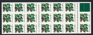 Scott # 3177a Christmas Holly Pane of 20 Stamps 1997