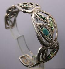 "Silpada Sterling Silver & Turquoise ""Garden Party"" Cuff Bracelet B2182"