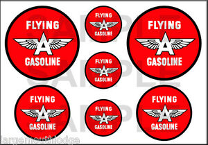 1 1/2 3/4 INCH FLYING A GASOLINE DECALS STICKERS