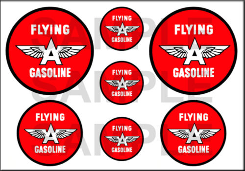 1 1//2 3//4 INCH FLYING A GASOLINE DECALS STICKERS
