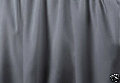 "21 /"" QUEEN GRAY BEDSKIRT OR DUST RUFFLE  SPLIT CORNERS"