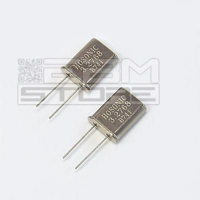 2 pz Quarzi 3,2768 MHZ quarzo HC49U - ART. CX12