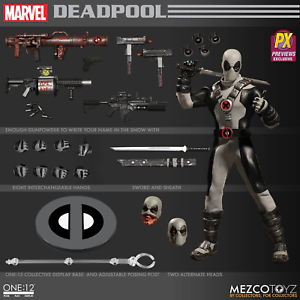 The One 12 Collective Marvel X-Force Deadpool PX Figure by Mezco