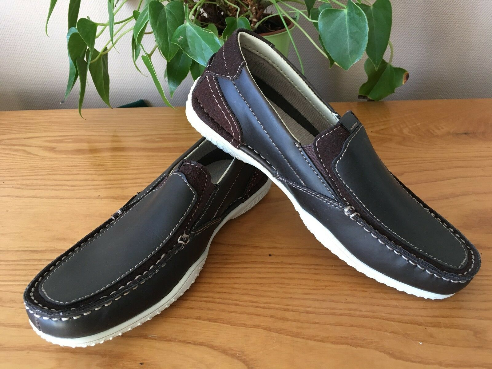 Skechers loafer brown slip on casual loafer Skechers trainer shoes UK 5.5 EU 38.5 New fa9dae