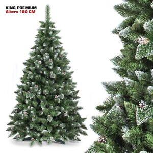 Albero Di Natale 800 Rami.Albero Di Natale 180 Cm King Premium Verde Innevato 800 Rami Folto Con Pigne Ebay