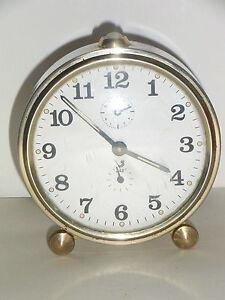 ancien r veil jaz horloge m canique ann es 50 vintage 1950 d co design loft ebay. Black Bedroom Furniture Sets. Home Design Ideas