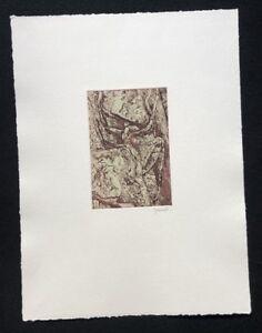 Herbert Grunwaldt, farbradierung, 1987, a mano firmata e datata