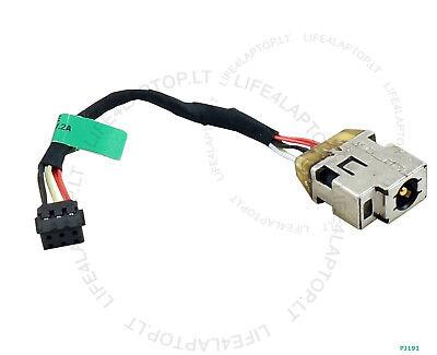 Original DC power jack cable for HP SleekBook 15 15-B100 series P//N 698231-SD1