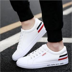 2019 Fashion Men S Leather Casual Shoes Sports Sneakers Walking Pure