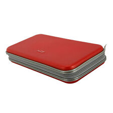 Plastic 80 Disc CD DVD Storage Bag Organizer Holder Album Case Wallet Purse Red