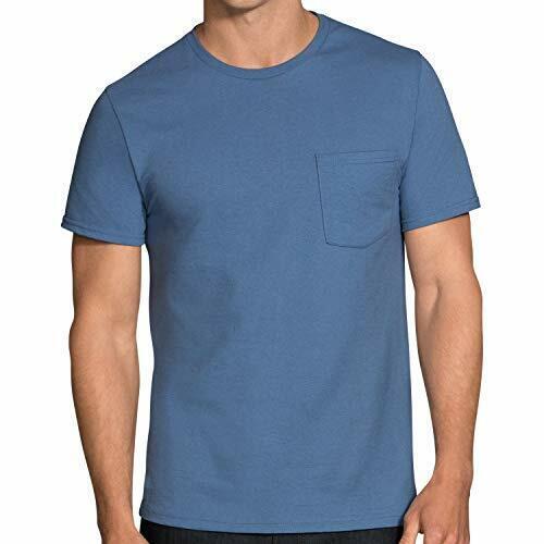 Pack Of 4 Fruit of the Loom Men/'s Pocket Crew Neck T-Shirt Choose SZ//Color