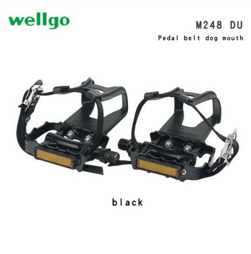 WELLGO DU Aluminum Bike Pedals bearing MTB Mountain Bicycle Pedal /&dog/'s mouth