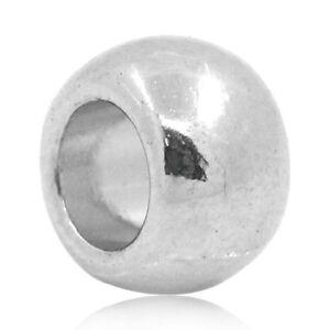 Sonderposten-Silberfarbe-Rund-Spacer-Perlen-Zwischenteil-Fuer-Schmuck-DIY-6x5mm